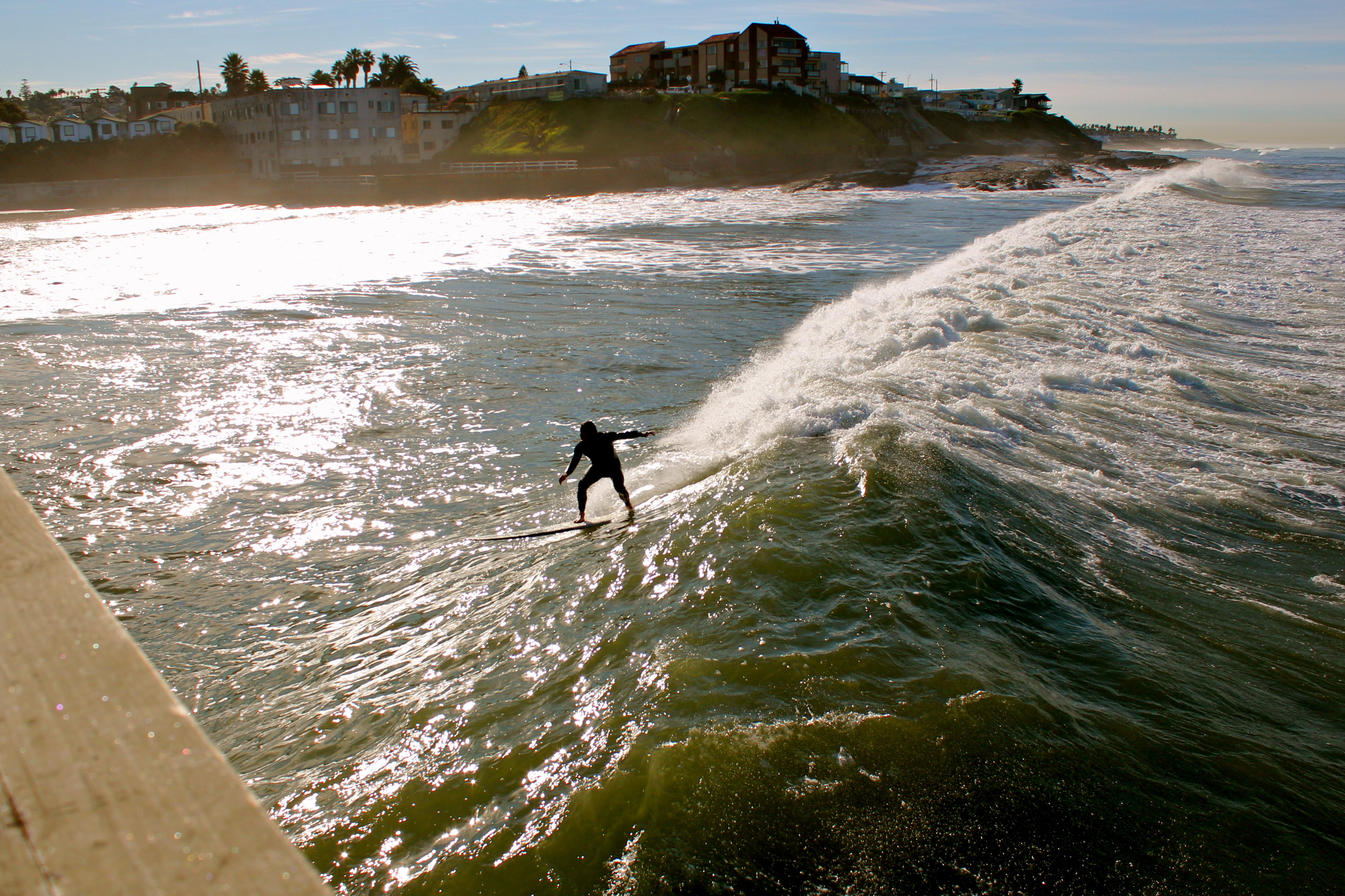 Ocean Beach California Surfer