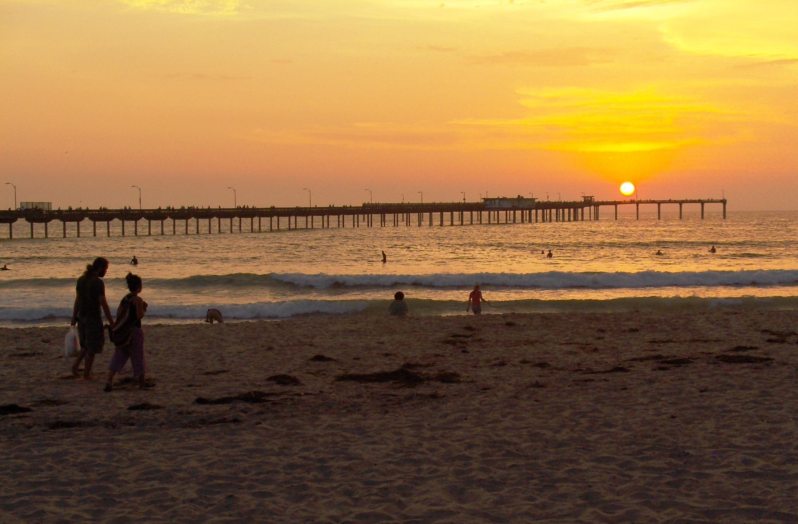 Ocean Beach Pier California Sunset