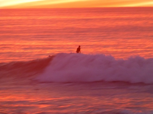 Surfer in the Sunset